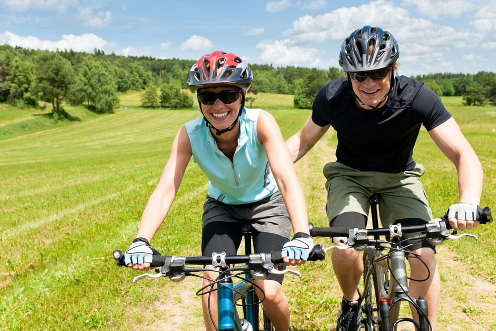 Biking for fun and exercise
